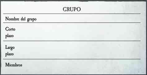 Ambiciones de Grupo Warhammer RPG